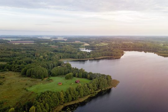 In Lithuania recreation object near the lake, 14 Ha. land
